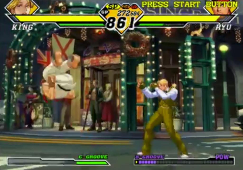 Pur non essendo il suo Turno, Ryu può eseguire una Air Recovery spendendo 1PA, visto che sta per cadere. Con questa manovra evita di fatti la caduta, riprendendosi!