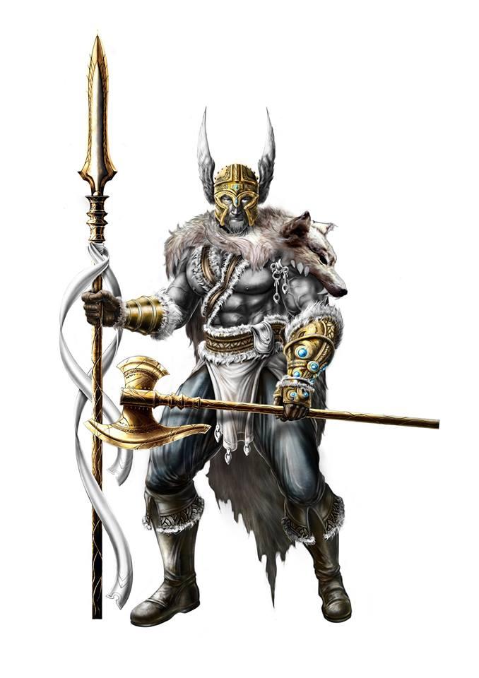 Odino, il Dio di Asgard, come immaginato da Yugin Maffioli