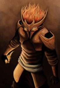 Armatura del Fuoco. Illustrazione by Ryanrye040x: http://ryanrye040x.deviantart.com/art/Fire-184017678