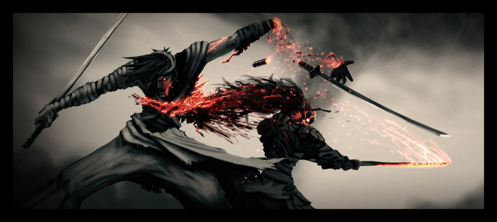 Kill Genji: Sword Shattered. Illustrazione by Ragaru: http://ragaru.deviantart.com/art/Kill-Genji-quot-A-Sword-Shattered-quot-165648163