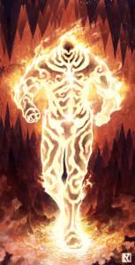 Ultra Armatura del Fuoco. Illustrazione by NicholasKay: http://nicholaskay.deviantart.com/art/Molten-Armor-257986832