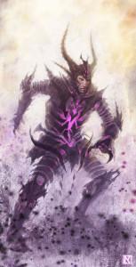 Armatura delle Ombre, Potere Attivo. Illustrazione by NicholasKay: http://nicholaskay.deviantart.com/art/Shadow-Armor-256719636