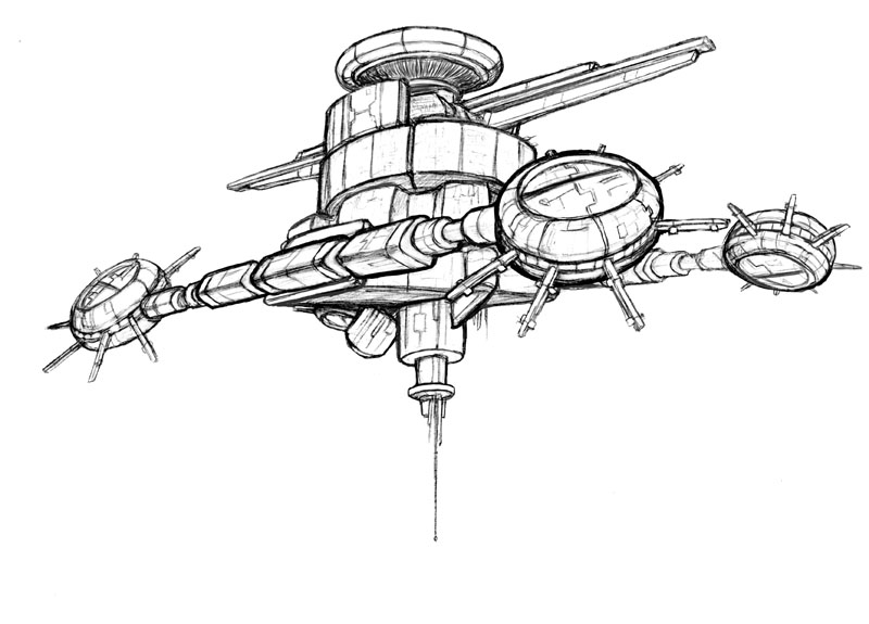 Drawing of Mars Space Station - Pics about space