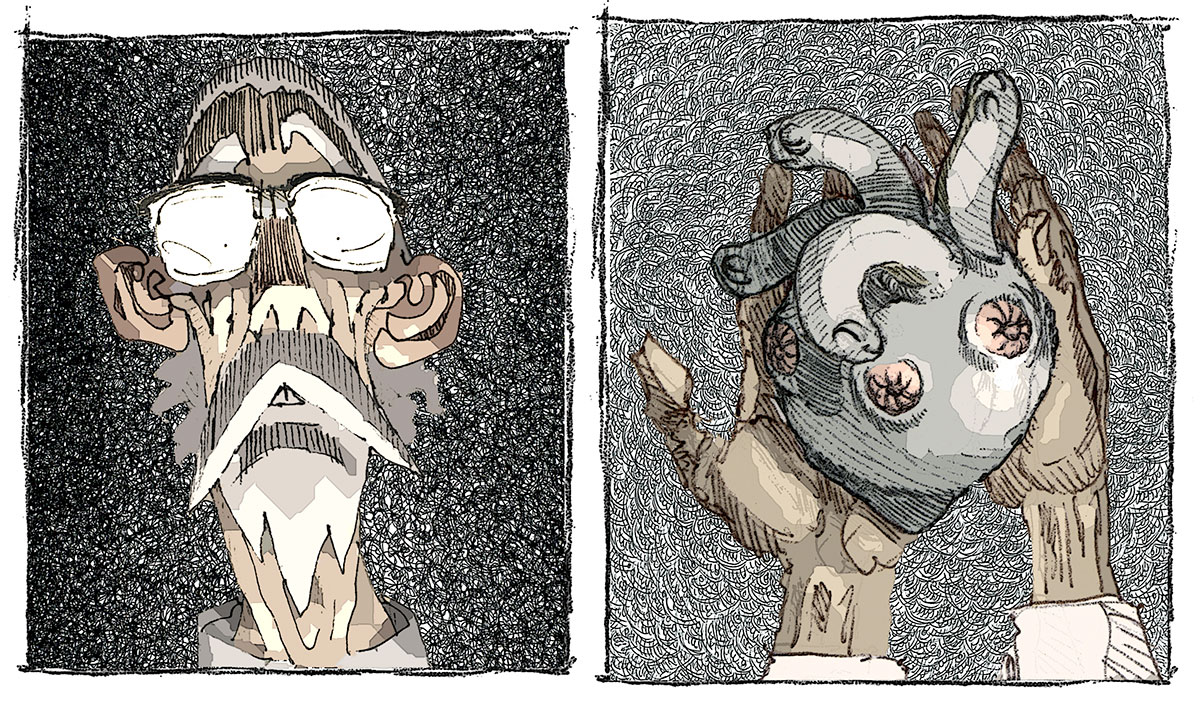 Ubu from Rotten Core eats the Loboeucarixtus